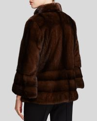 Maximilian | Brown Bell Sleeve Mink Coat - Bloomingdale's Exclusive | Lyst