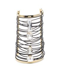 Alexis Bittar | Metallic Large Cable Wrapped Crystal Cuff You Might Also Like | Lyst