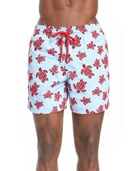 Vilebrequin | Blue Moorea Swim Trunks W/ Flocked Turtles for Men | Lyst