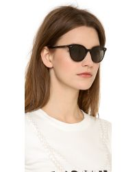 Garrett Leight | Black Dillion Sunglasses - Pink Crystal/Pure Green | Lyst