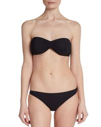 Dolce & Gabbana | Black Strapless Bandeau Bikini Top | Lyst