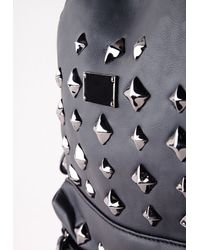 Missguided - Studded Backpack Black - Lyst