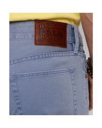 Ralph Lauren | Blue Straight Fit Five Pocket Chinos for Men | Lyst