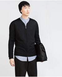 Zara | Black Zipped Jacket for Men | Lyst
