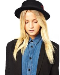 French Connection   Black Winter Boater Hat   Lyst