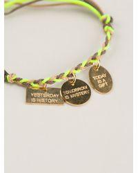 La Mome Bijou - Green Rope Woven Bracelet - Lyst