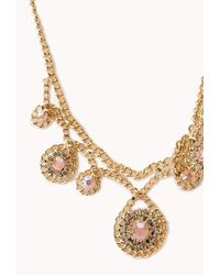 Forever 21 - Pink Dainty Darling Rhinestoned Necklace - Lyst