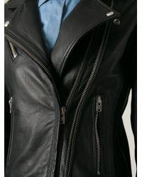 IRO - Black 'Vika' Biker Jacket - Lyst