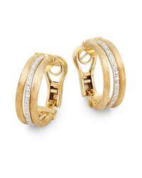 Marco Bicego - Metallic Jaipur Diamond & 18k Gold Hoop Earrings - Lyst