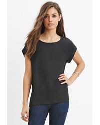 Forever 21 | Black Classic Cuffed-sleeve Top | Lyst
