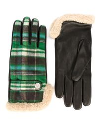 DSquared² - Green Checked Gloves for Men - Lyst