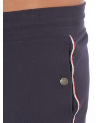 Moncler | Blue Side-Stripe Jersey Track Shorts for Men | Lyst