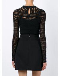 Isabel Marant - Black Crochet Sweater - Lyst