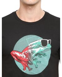 Oakley - Black Slim Fit Cool Frog Cotton T-shirt for Men - Lyst