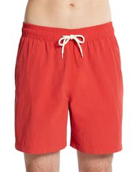 Ben Sherman | Red Garment Dyed Swim Shorts for Men | Lyst