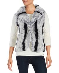 Surell | Gray Rex Rabbit Fur Vest | Lyst