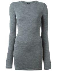 JOSEPH - Gray Crew Neck Sweater - Lyst