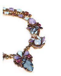 Erickson Beamon - Multicolor 'ripple Cascade' Stud Lace Swarovski Crystal Necklace - Lyst