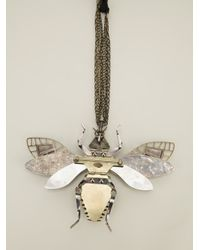 Lanvin - Metallic Embellished Insect Necklace - Lyst