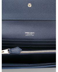 Giorgio Armani - Blue Foldover Wallet - Lyst