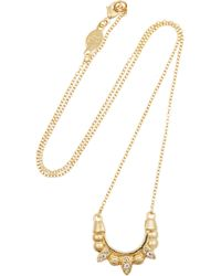 Pamela Love | Metallic Mini Tribal Spike Gold-Plated Topaz Necklace | Lyst