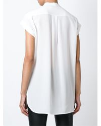 Vince | Natural Buttoned T-shirt | Lyst