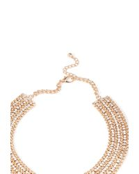 Forever 21 - Metallic Stacked Rhinestone Collar Necklace - Lyst