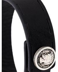 DIESEL | Black Decorative Button Cuff for Men | Lyst