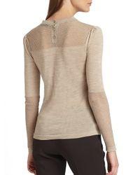 Burberry Prorsum - Natural Intarsiaknit Bow Sweater - Lyst