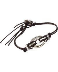 Catherine Zadeh | Metallic Cord Bracelet with Silver Element | Lyst