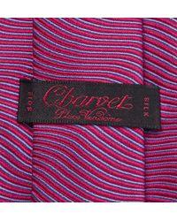 Charvet - Purple Striped Silk-Satin Tie for Men - Lyst