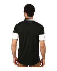 Lacoste - Black Sport Short Sleeve Ultra Dry Chest Stripe Polo for Men - Lyst