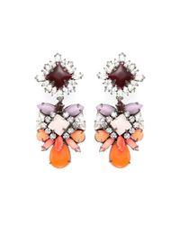 Shourouk - Metallic Blondie Crystalembellished Earrings - Lyst