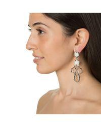 Lele Sadoughi | Prism Chandelier Earrings, White Star | Lyst