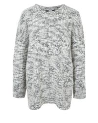 4b9c6806b25fb Lyst - Helmut Lang Grey Boucle Knit Drop Shoulder Jumper in Gray