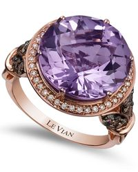 Le Vian | Purple Amethyst (8 Ct. T.w.) And Diamond (3/4 Ct. T.w.) Ring In 14k Rose Gold | Lyst
