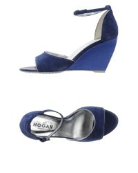 Hogan - Blue Sandals - Lyst