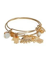 Cara - Metallic Charm Bangle Bracelet Set - Lyst