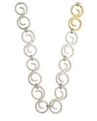 Gurhan - Metallic Silver And Gold All-around 'vortex' Necklace - Lyst
