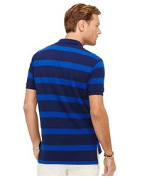 Polo Ralph Lauren - Blue Big And Tall Striped Mesh Polo Shirt for Men - Lyst