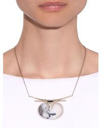 Monique Péan | Diamond, Jade, Agate & White-Gold Necklace | Lyst
