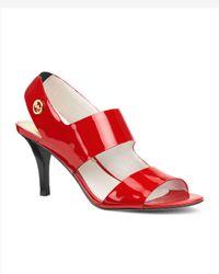 Michael Kors | Red Rochelle Open Toe Sandal | Lyst