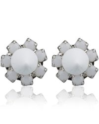 Joomi Lim - White Crystal Baroque Punk Stud Earrings - Lyst