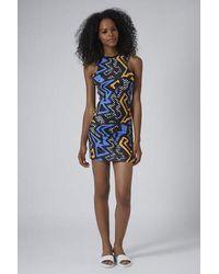 TOPSHOP - Multicolor Graffitti Print Bodycon Dress - Lyst
