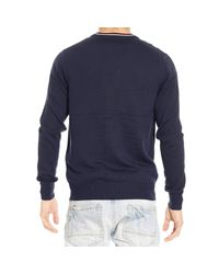 Fred Perry - Blue Sweater Merino Cardigan With Buttons for Men - Lyst