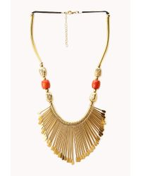 Forever 21 - Metallic Artifact Bib Necklace - Lyst