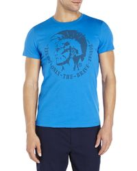 DIESEL | Blue Only The Brave Tee for Men | Lyst