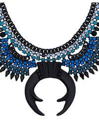 DANNIJO - Blue Bayne Pincer Necklace - Lyst