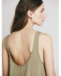 Free People - Green Intimately Womens Outlined High Low Cami - Lyst
