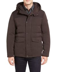 Michael Kors | Brown Water Resistant Quilted Parka for Men | Lyst